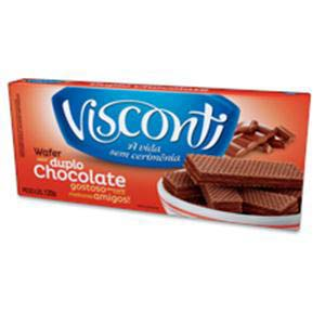 WAFER VISCONTI DUPLO CHOCOLATE 120 G