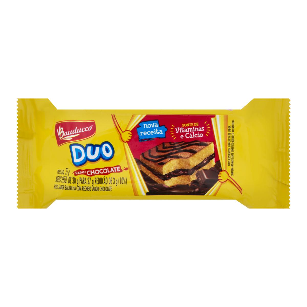 BOLINHO BAUDUCCO DUO CHOCOLATE 15X27 G