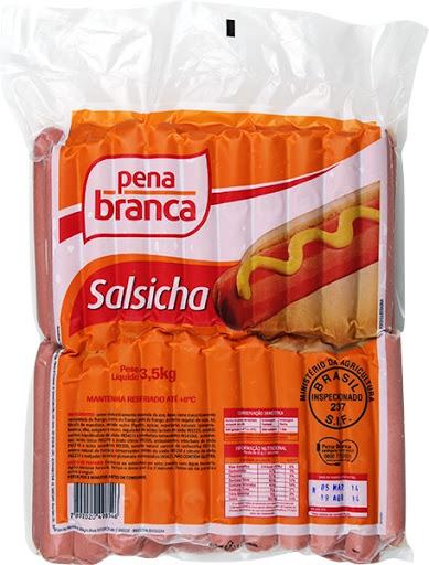SALSICHA HOT DOG 14CM PENA BRANCA 3,5KG