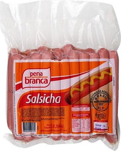 SALSICHA HOT DOG 19CM PENA BRANCA 2,5 KG