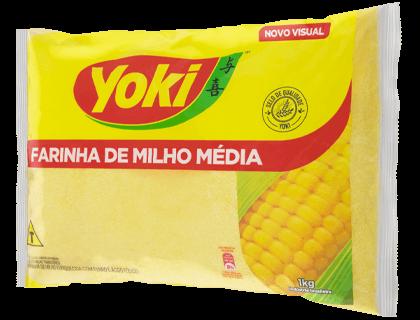 FARINHA MILHO MEDIA YOKI 12X1 KG
