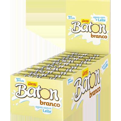 CHOC.GAROTO BATON BRANCO 30X16 G