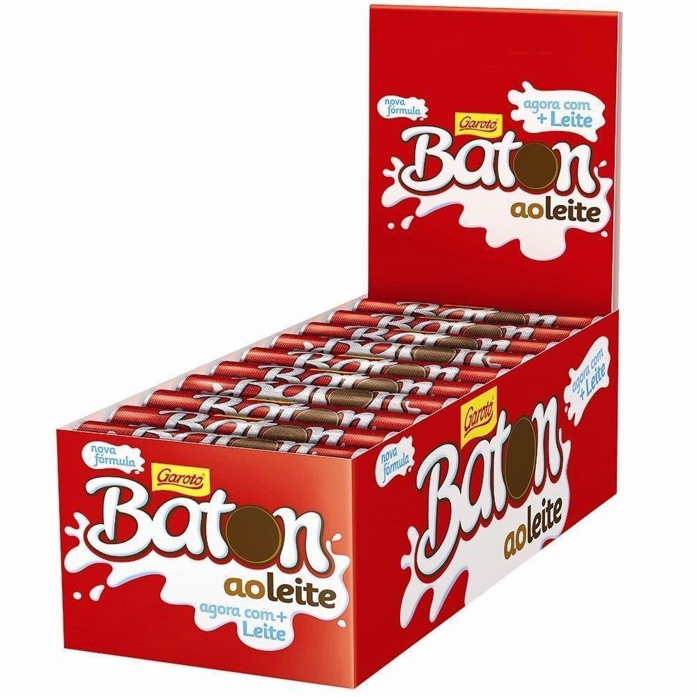 CHOC.GAROTO BATON LEITE 30X16 G