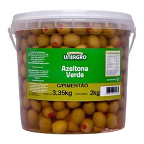 AZEITONA VERDE RECHEADA COM PIMENTA UNIAGRO 2 KG