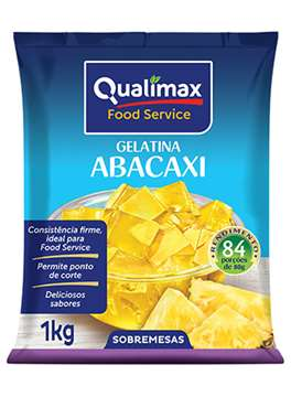 GELATINA QUALIMAX ABACAXI 1 KG