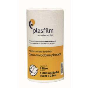 BOBINA PLASTICA 1 LT PICOTADA 16X28CM 1000 UN