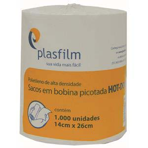 BOBINA PLAST.P/HOT-DOG 14X26CM 1000 UN