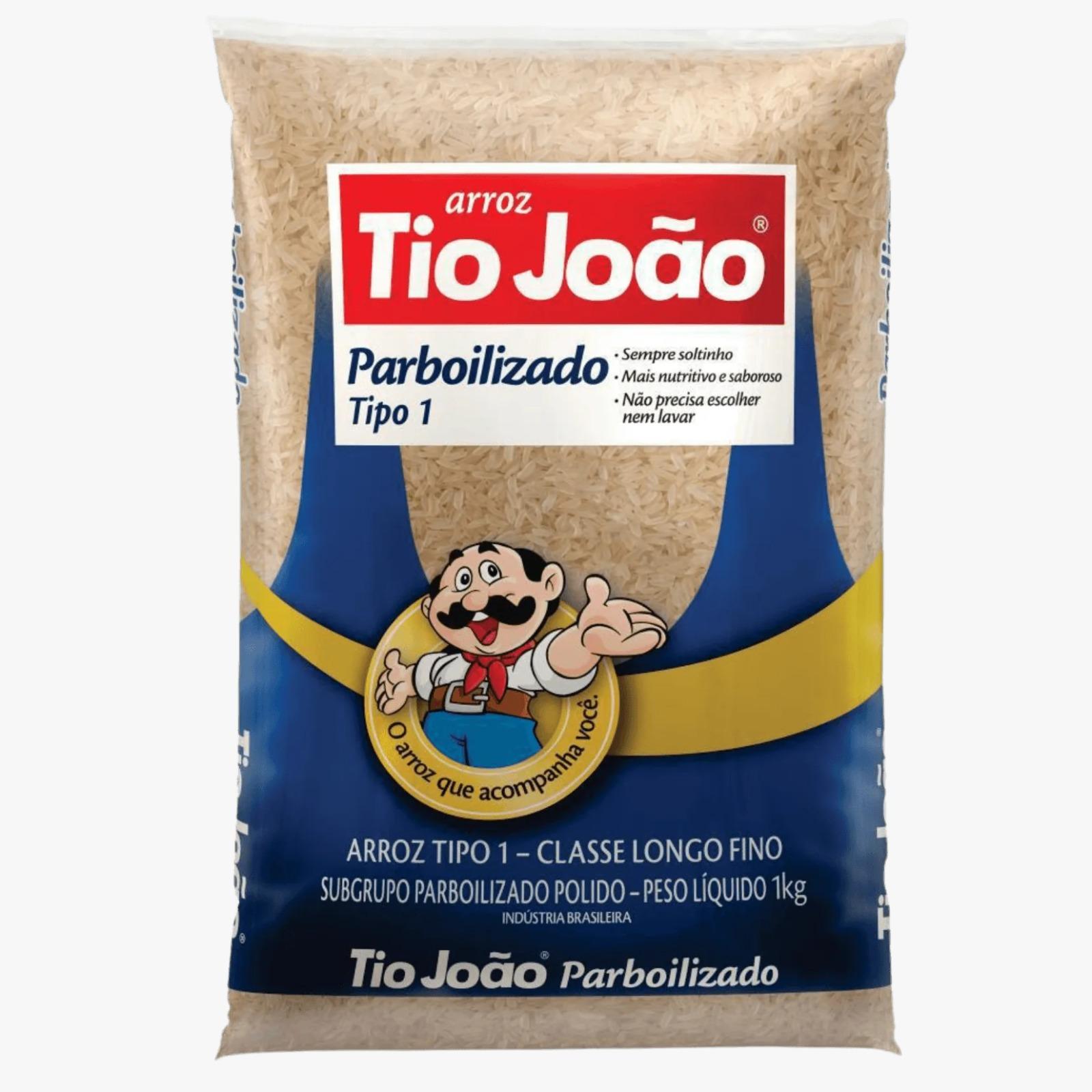 arroz Tio João parboilizado 10x1 kg