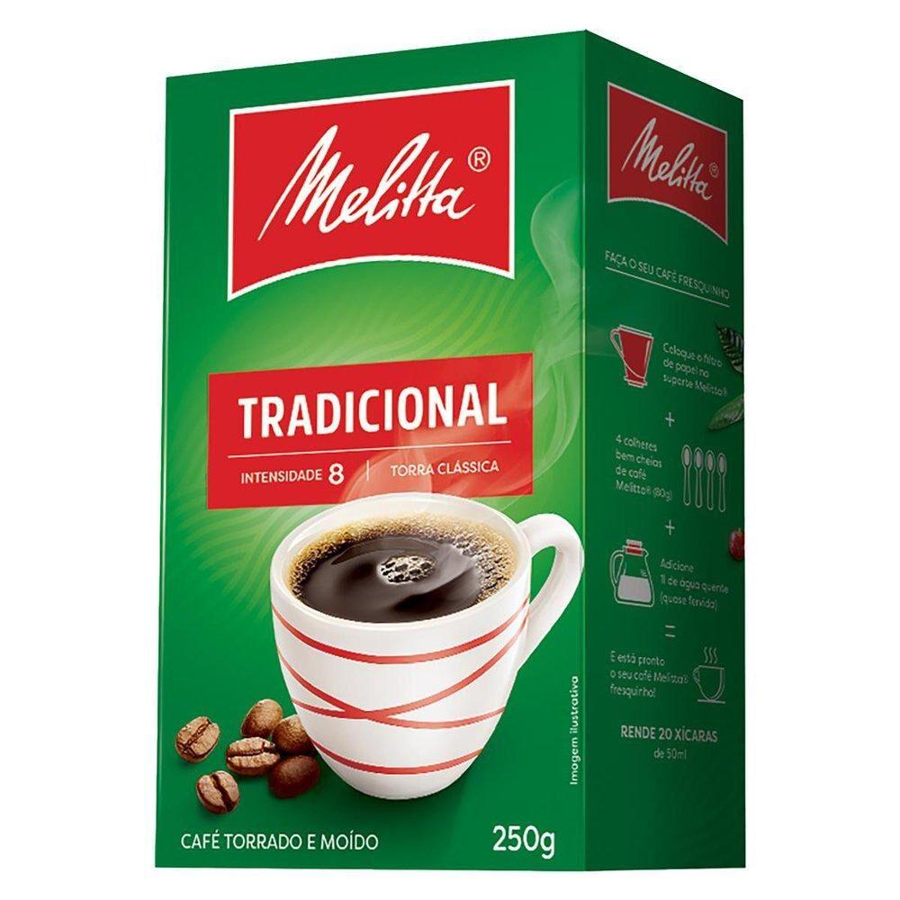 CAFÉ TORRADO MOÍDO TRADICIONAL MELITTA 250G