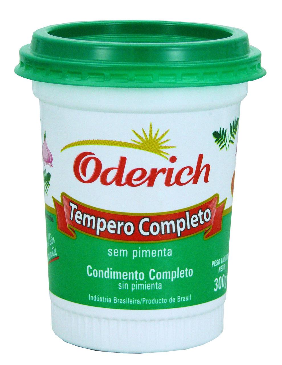 TEMPERO ODERICH COMPL.S/PIMENTA 300 G