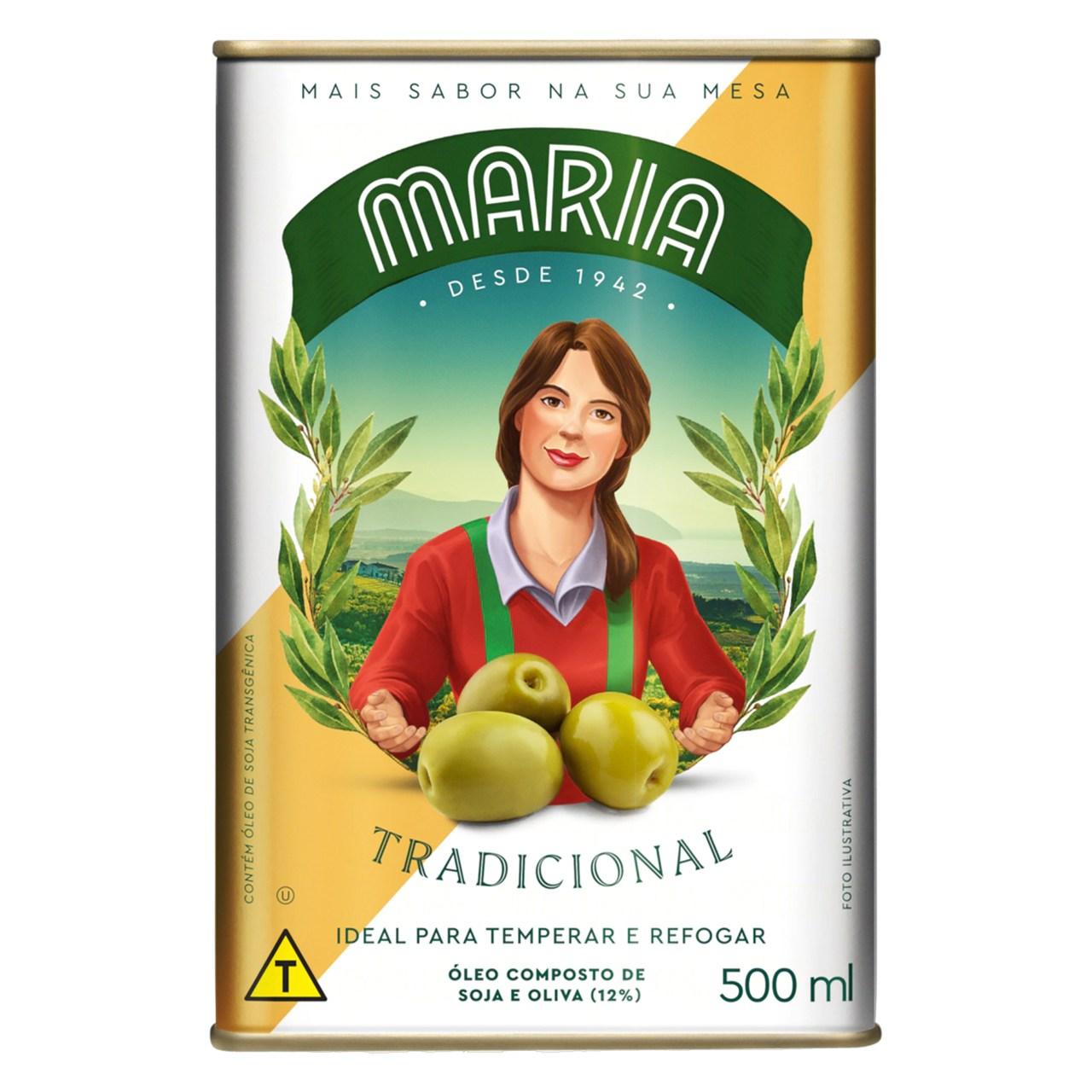 AZEITE O.MISTO MARIA TR.C/BICO 500ML LT