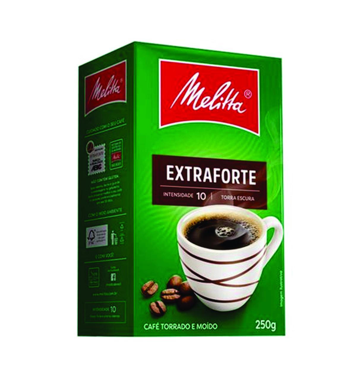 CAFÉ TORRADO MOÍDO EXTRAFORTE MELITTA 250G