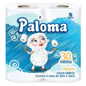 PAPEL H.PALOMA NEUTRO 16X4 UN 30M