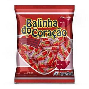 BALA FLORESTAL CORACAO MORANGO 500 G