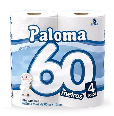 PAPEL H.PALOMA NEUTRO 16X4 UN 60M