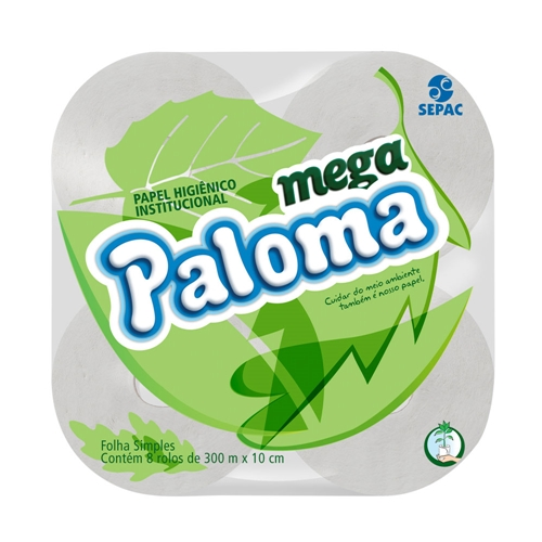 PAPEL H.PALOMA ROLAO BRANCO 8X300 M