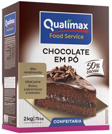 CHOCOLATE EM PÓ 50% QUALIMAX 2 KG