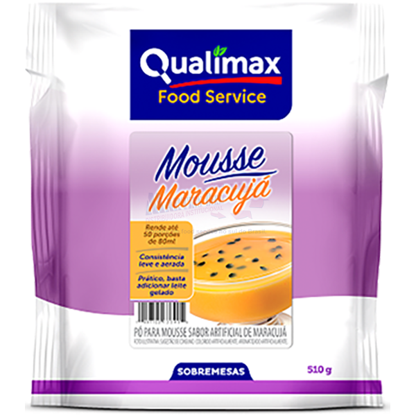 MOUSSE QUALIMAX MARACUJA 510 G