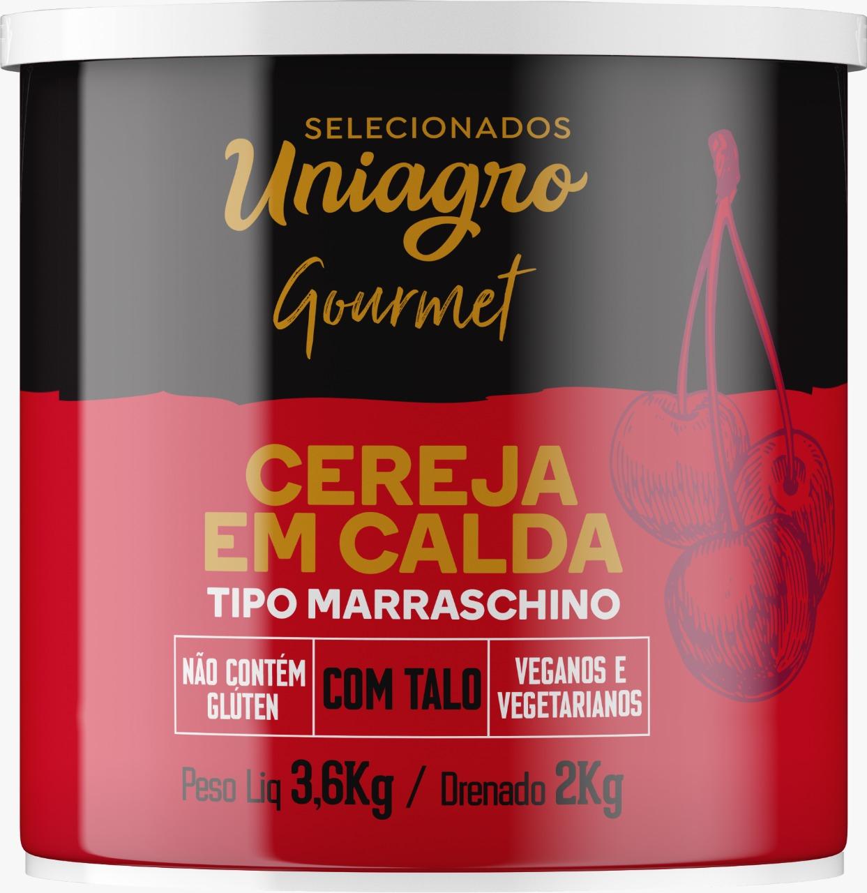 CEREJA MARASCHINO COM TALO UNIAGRO 2,0 KG