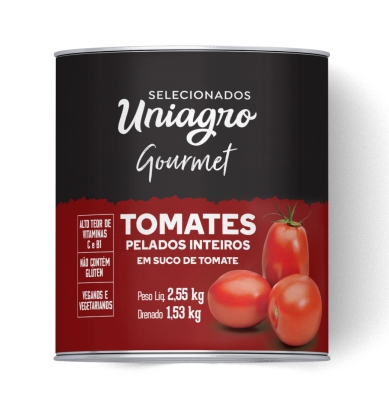 TOMATES S/PELE UNIAGRO 2,5 KG