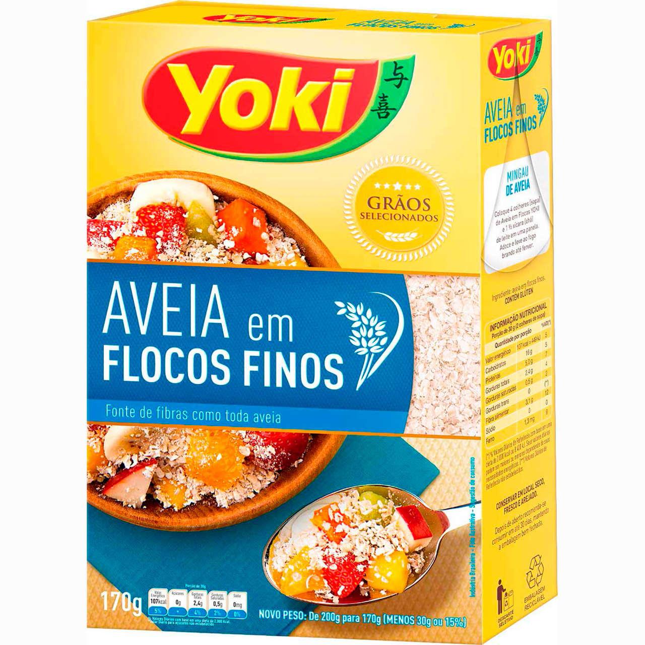 AVEIA EM FLOCOS FINOS YOKI 170 G