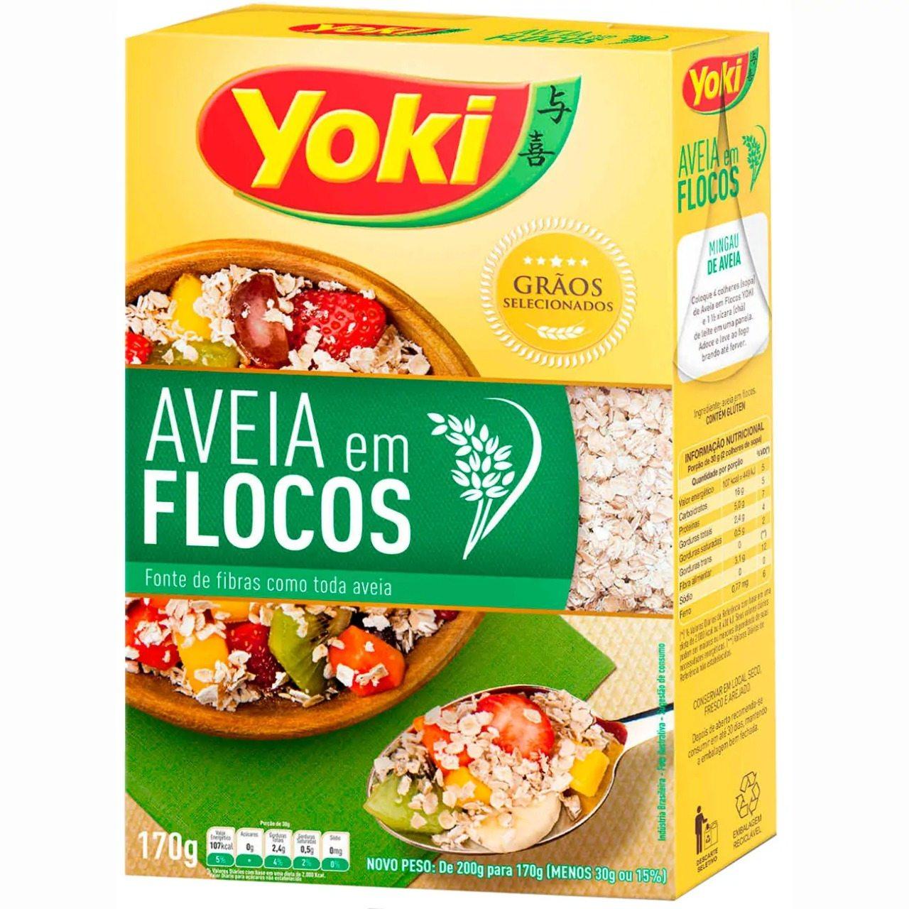 AVEIA EM FLOCOS YOKI 170 G