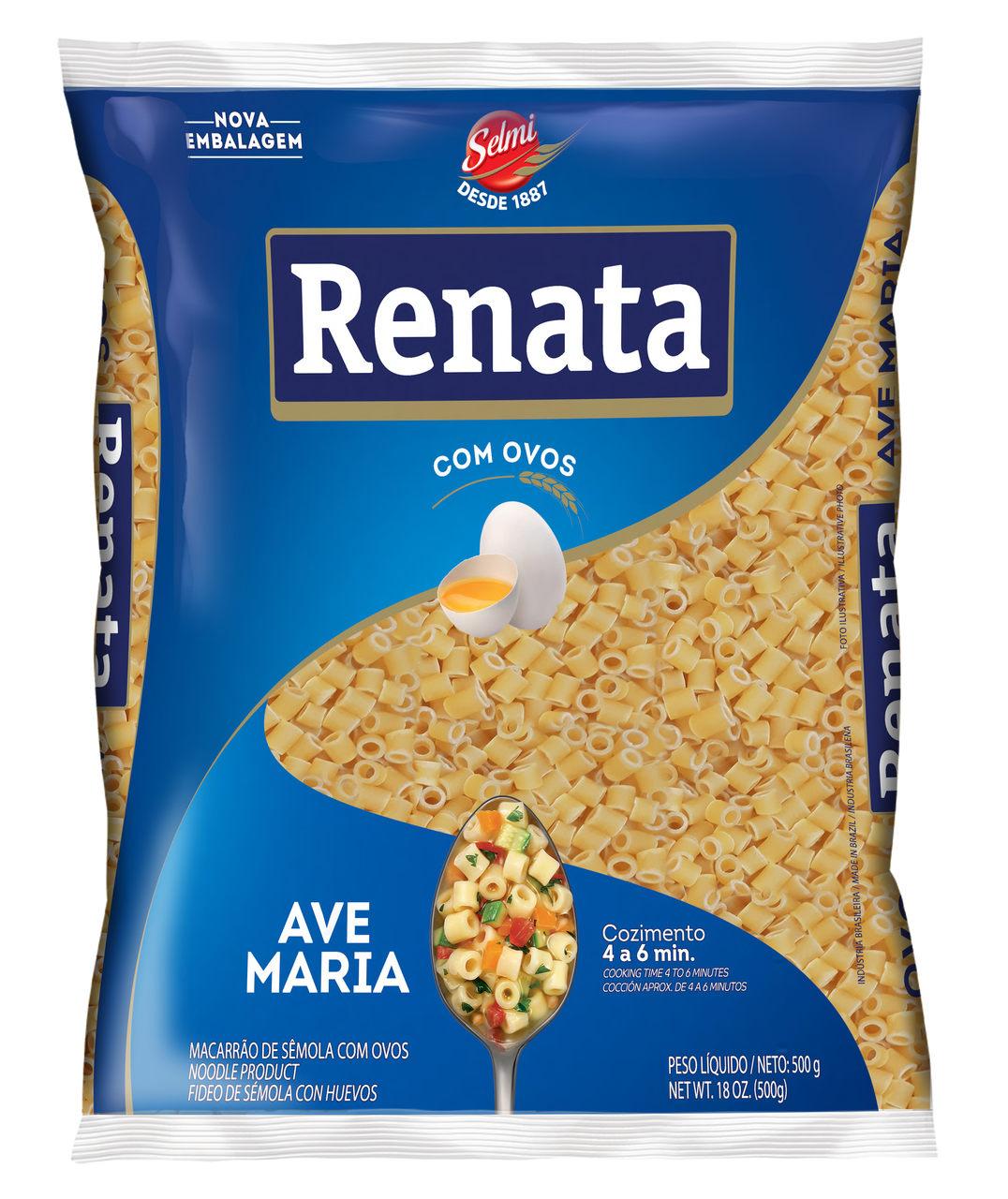 MASSA RENATA COM OVOS.AVE MARIA 500 G