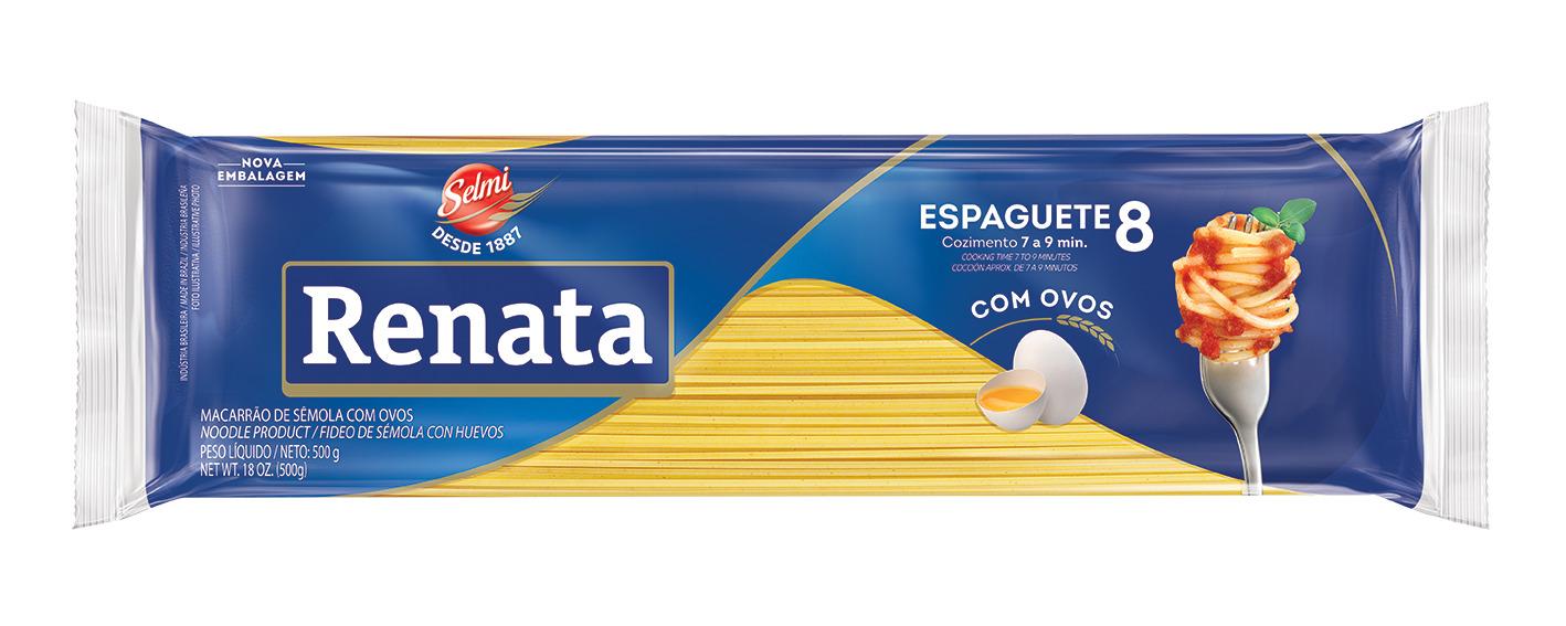 MASSA RENATA C/O.ESPAGUETE N.8 500G