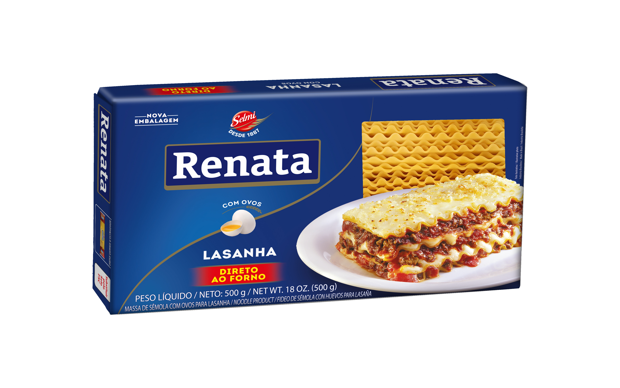 MASSA RENATA COM OVOS.LASANHA 500 G