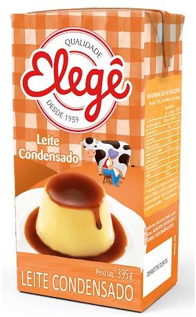 LEITE CONDENSADO SEMI-DESNATADO ELEGE TETRA PAK 395 G