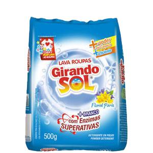 SABÃO PÓ GIRANDO SOL AZUL FLORAL 500G