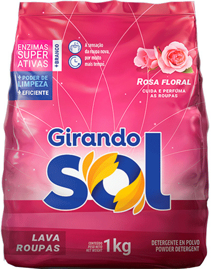 SABAO PO GIRANDO SOL ROSA FLORAL 1KG