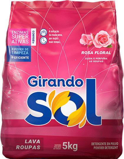 SABÃO PÓ GIRANDO SOL ROSA FLORAL 5KG