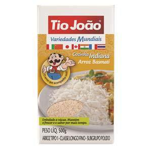 arroz Tio João basmati (indiana) 500g
