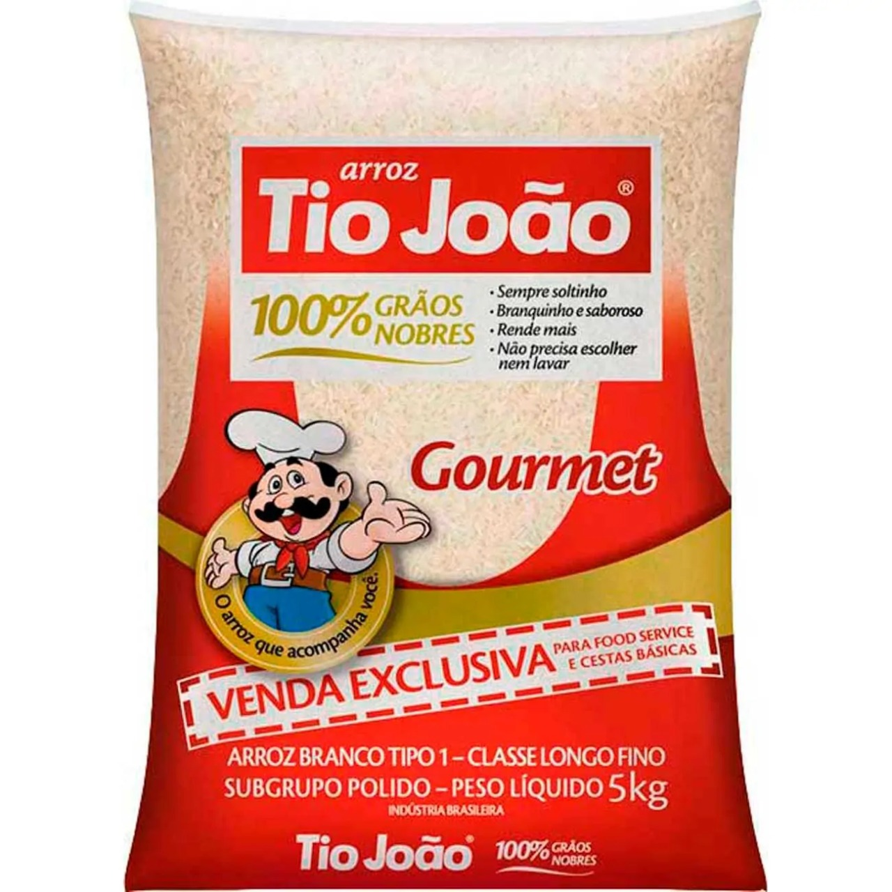arroz Tio João gourmet branco 6x5 kg