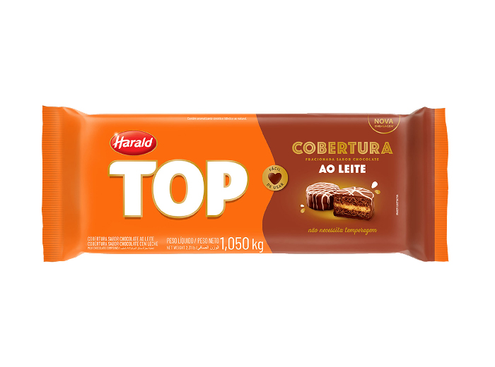 COBERTURA TOP HARALD AO LEITE 1,05 KG