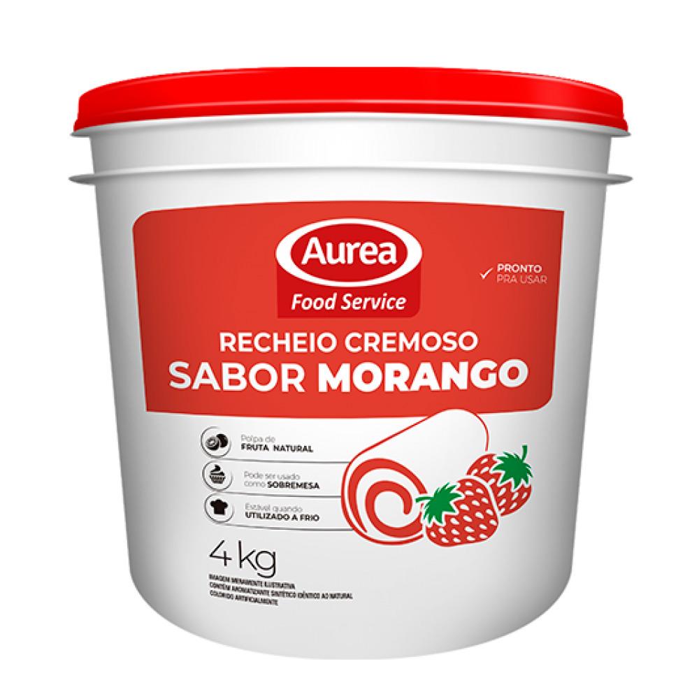 RECHEIO CREMOSO SAB.MORANGO AUREA 4 KG