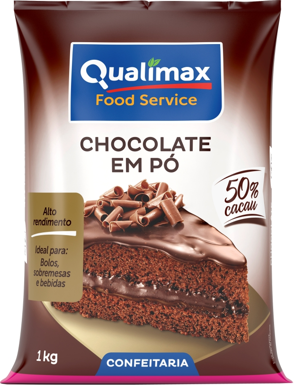 CHOCOLATE EM PÓ 50% QUALIMAX 1 KG