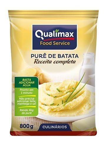 PURÊ DE BATATA COMPLETO QUALIMAX 800G