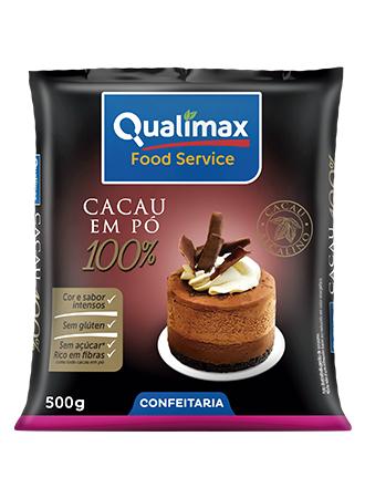 CACAU EM PO 100% QUALIMAX 500 G
