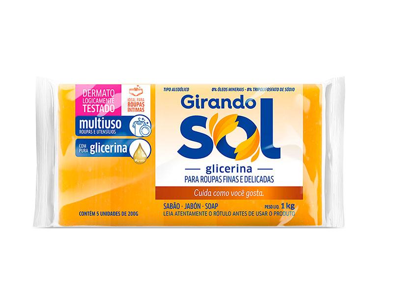 SABAO BAR.GIRANDO SOL GLICERINA 5X200 G