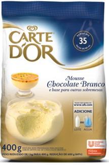 MOUSSE CARTE DOR CHOCOLATE BRANCO 400 G