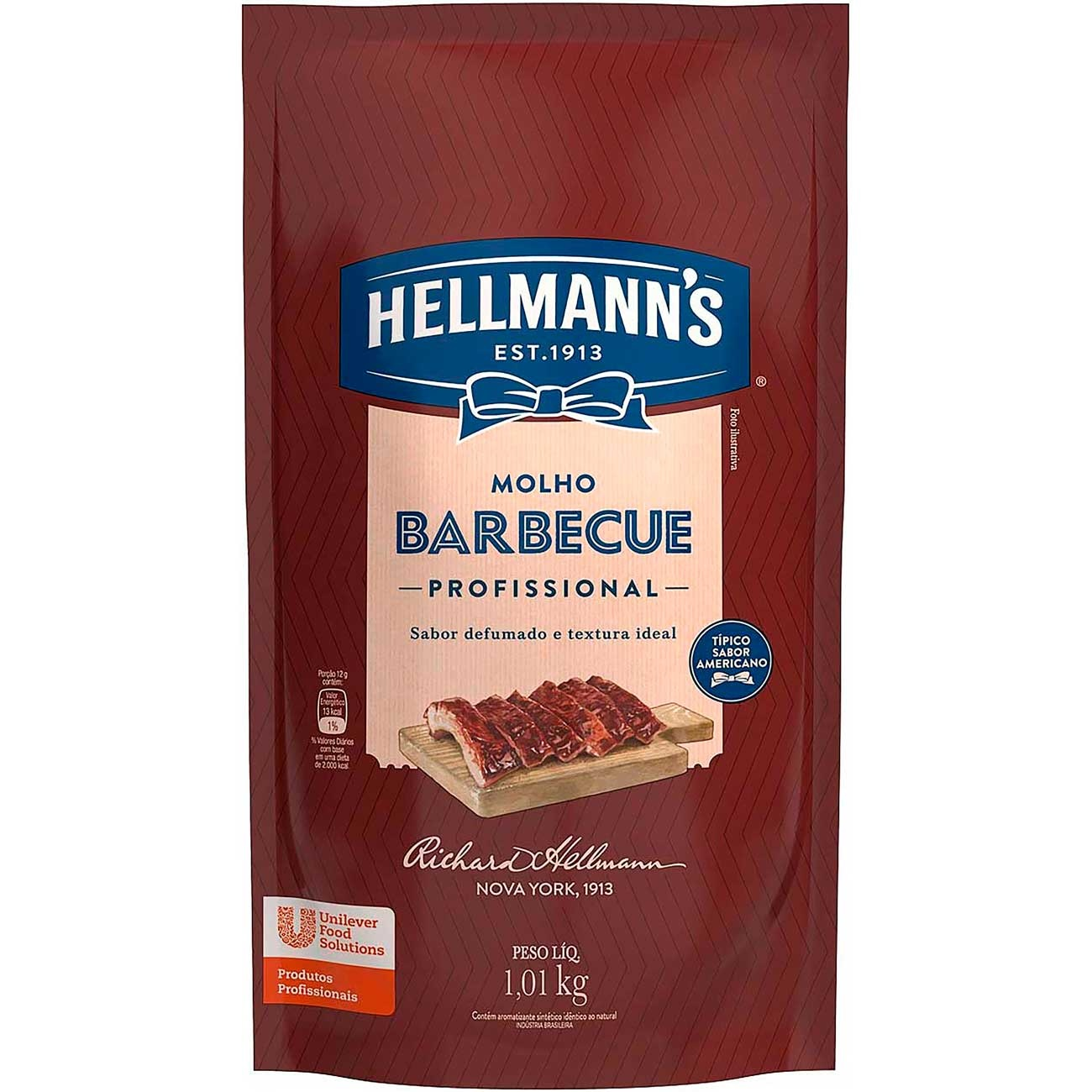 MOLHO BARBECUE HELLMANNS 1,01 KG SACHE