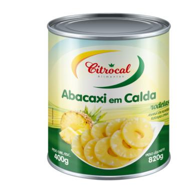 ABACAXI EM RODELAS CITROCAL 400 G