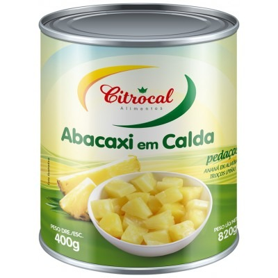 ABACAXI EM PEDACOS CITROCAL 400 G