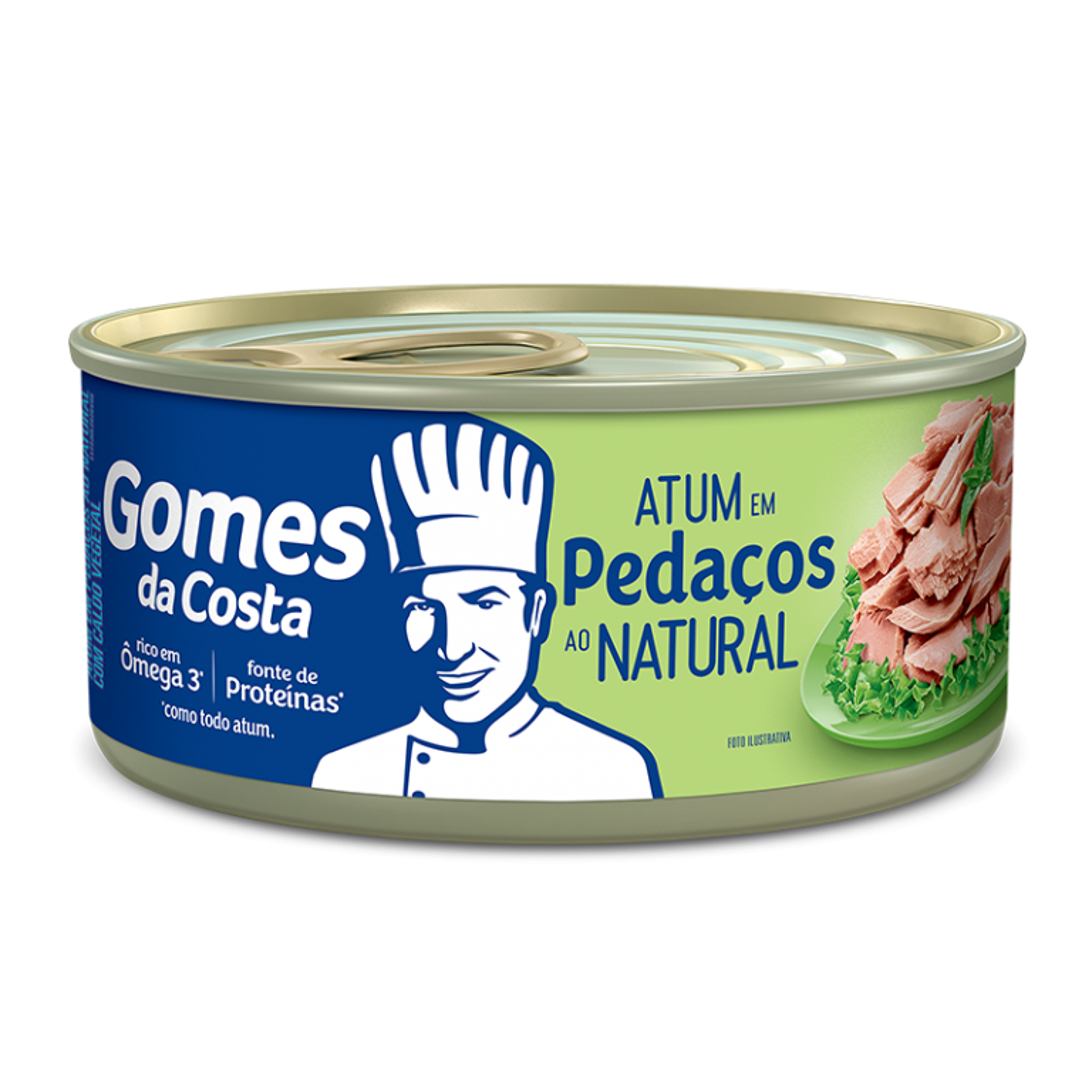 atum pedaços natural Gomes Da Costa