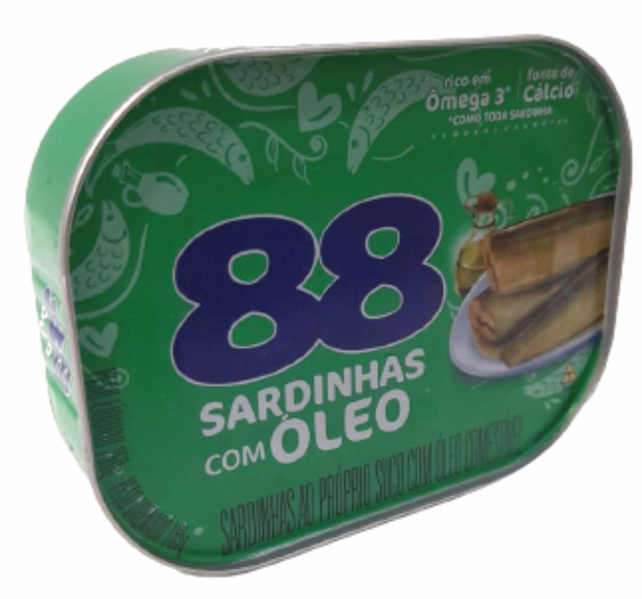 SARDINHAS OLEO VEG. 88 250 G