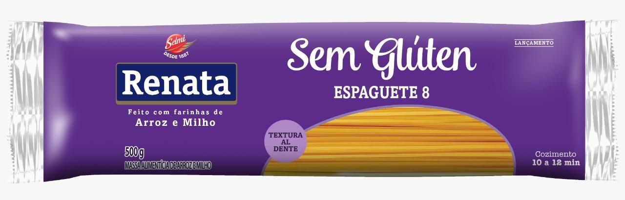 MASSA RENATA SEM GLÚTEN ESPAGUETE N°8 500G