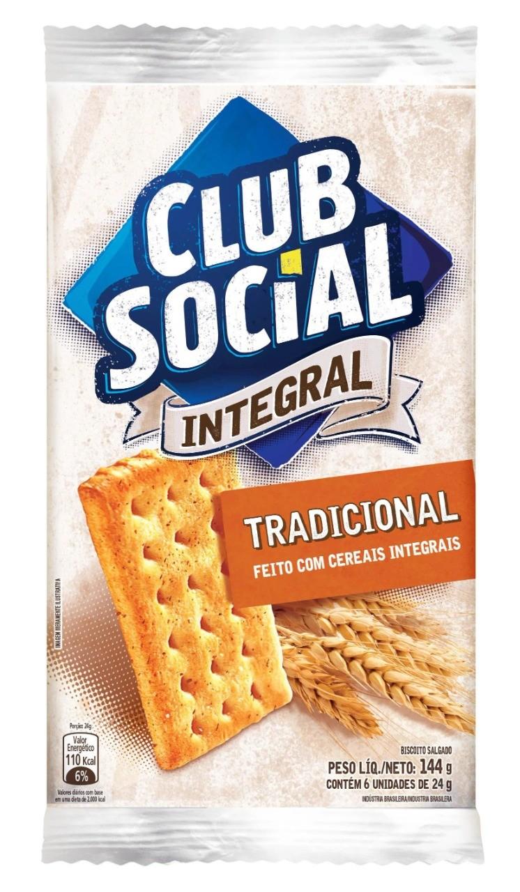 BISCOITO CLUBE SOCIAL INTEGRAL 6X24 G