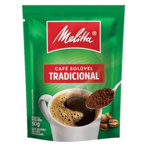 CAFÉ SOLÚVEL TRADICIONAL MELITTA SACHÊ 50 G
